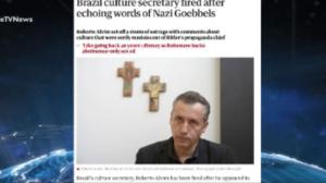 Imprensa internacional repercute discurso de Roberto Alvim