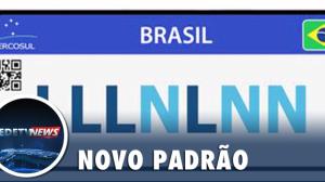 Placa Mercosul para veículos novos começa nesta sexta-feira (31)
