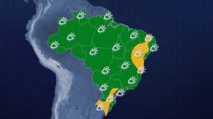 Chuva permanece na região Sudeste nesta quarta (12)