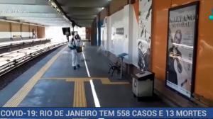 Rio de Janeiro tem 558 casos e 13 mortes por coronavírus