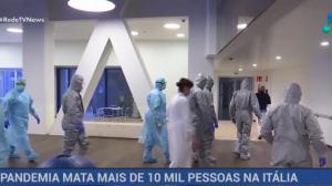 Pandemia do novo coronavírus mata mais de 10 mil pessoas na Itália