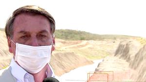 Bolsonaro inaugura novo trecho da transposição do Rio São Francisco