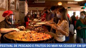 Festival de pescado e frutos do mar é realizado na Ceagesp, em SP