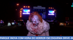 Parque inova com hora do horror em esquema drive-in