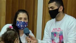 Família faz vaquinha para pagar tratamento da filha em SP