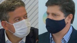Arthur Lira e Baleia Rossi disputam a presidência da Câmara nesta segunda