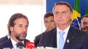 Bolsonaro recebe presidente do Uruguai, Luis Lacalle Pou