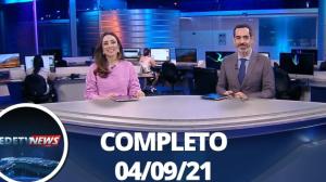 Assista à íntegra do RedeTV News de 4 de setembro de 2021