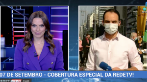 Apoiadores de Bolsonaro realizam ato na Avenida Paulista