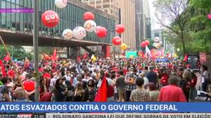 Manifestantes protestam contra a inflação, mas adesão é baixa