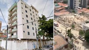 Prédio de sete andares que desabou ficava em área nobre de Fortaleza