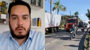 """Deputado critica paralização de caminhoneiros e opina: """"Não é o caminho"""""""
