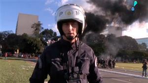 Veja como foi a ação da polícia durante protesto violento em Brasília