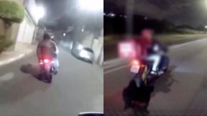 Rapaz diz que fugiu por susto | Dupla larga moto em perseguição