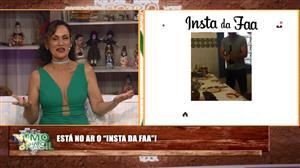 """Edu Guedes usa tênis para abrir garrafa no """"Insta da Faa"""""""