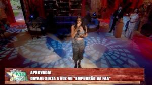 """Dayane é aprovada no """"Empurrão da Faa"""""""
