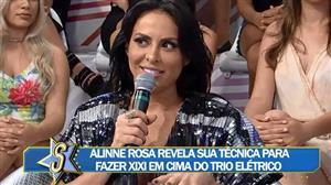 Alinne Rosa conta que faz xixi em copo durante show em trio elétrico