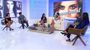 "Daniela Albuquerque recebe a jurada Flor no ""Sensacional"" desta quinta (19)"