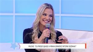 """Passei quase a gravidez inteira sozinha"", relembra Milene Domingues"