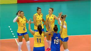 Assista aos dois primeiros sets de Brasil 3 x 1 República Dominicana