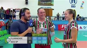 Assista ao último set de Fluminense 3 x 0 Sesi-SP