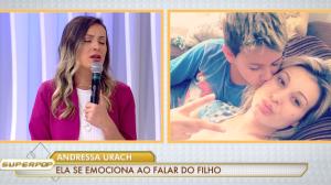 """Andressa Urach se emociona ao falar do filho: """"Quase perdi ele"""""""