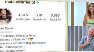 """""""Um susto"""", diz Mateus Carrieri sobre a explosão de seguidores em seu Insta"""