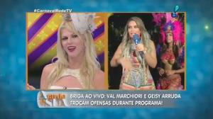 Sonia Abr�o critica postura de Val Marchiori e Geisy Arruda