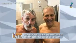 Carlos Alberto de Nóbrega aparece pelado com Otávio Mesquita