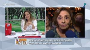 Laura Cardoso agradece 'tapete vermelho' de Sonia Abrão