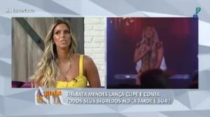Thábata Mendes fala com o 'A Tarde é Sua' sobre seu novo clipe