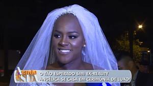 Ex-BBB Angélica Ramos se casa em cerimônia luxuosa