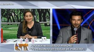 Xuxa Meneghel alfineta Sérgio Marone em programa de TV