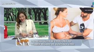 Andressa Suita se emociona com declaração surpresa de Gusttavo Lima