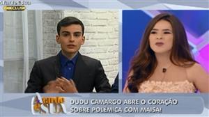 """""""Eu acabei me divertindo"""" diz Dudu Camargo após climão com Maisa Silva"""