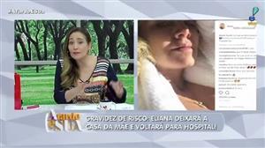 """""""Tudo programado"""", diz Sonia Abrão sobre a volta de Eliana para o hospital"""