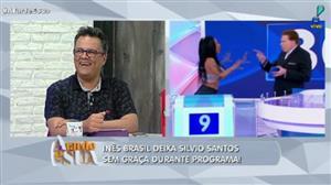 Inês Brasil deixa Silvio Santos sem graça durante programa