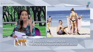 """""""Vai cometer infração assim lá longe"""", diz Sônia Abrão sobre Fernanda Lima"""