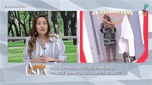 Após suposto roteiro, Ana Paula Minerato usou celular em reality?