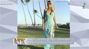 Ticiane Pinheiro ostenta com vestido de R$ 30 mil em praia na Bahia