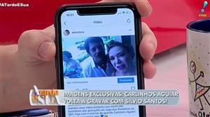 Imagens exclusivas: Carlinhos Aguiar volta a gravar com Silvio Santos