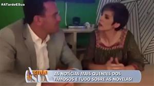 """Bocardi e Glória Vanique negam """"climão"""" e Sonia Abrão comenta: """"Palhaçada"""""""
