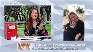 """Mãe de Sonia Abrão dá ordem à filha: """"tira o Leifert da geladeira"""""""