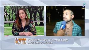 Na saída do reality, Kaysar agradece torcida de Sonia Abrão