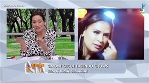 """Sonia Abrão destaca shows de Simone sem Simaria: """"dando conta do recado"""""""