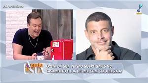 """Alexandre Frota rebate Claudia Raia sobre gafes em casamento: """"exagerou"""""""