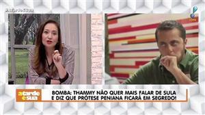 """Sonia Abrão sobre prótese peniana de Thammy: """"Será o maior segredo dele"""""""