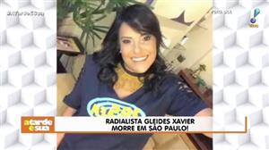"""Sonia Abrão lamenta morte da radialista Gleides Xavier: """"Era tão jovem"""""""