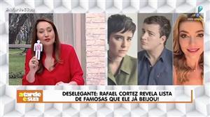 """Rafael Cortez divulga lista de famosas que """"pegou"""" e Sonia Abrão detona"""