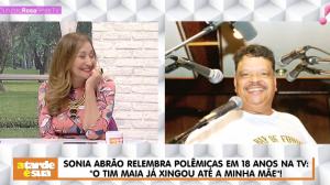 """""""Tim Maia xingou minha mãe e bateu telefone na minha cara"""", diz Sonia Abrão"""